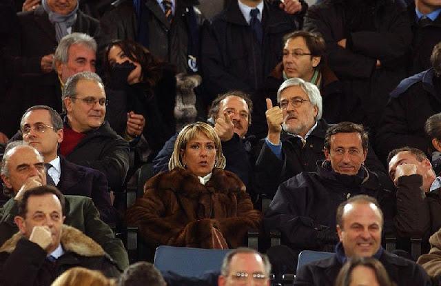 Lotito, Mazza, Mimun, Fini (foto: dagospia.it)