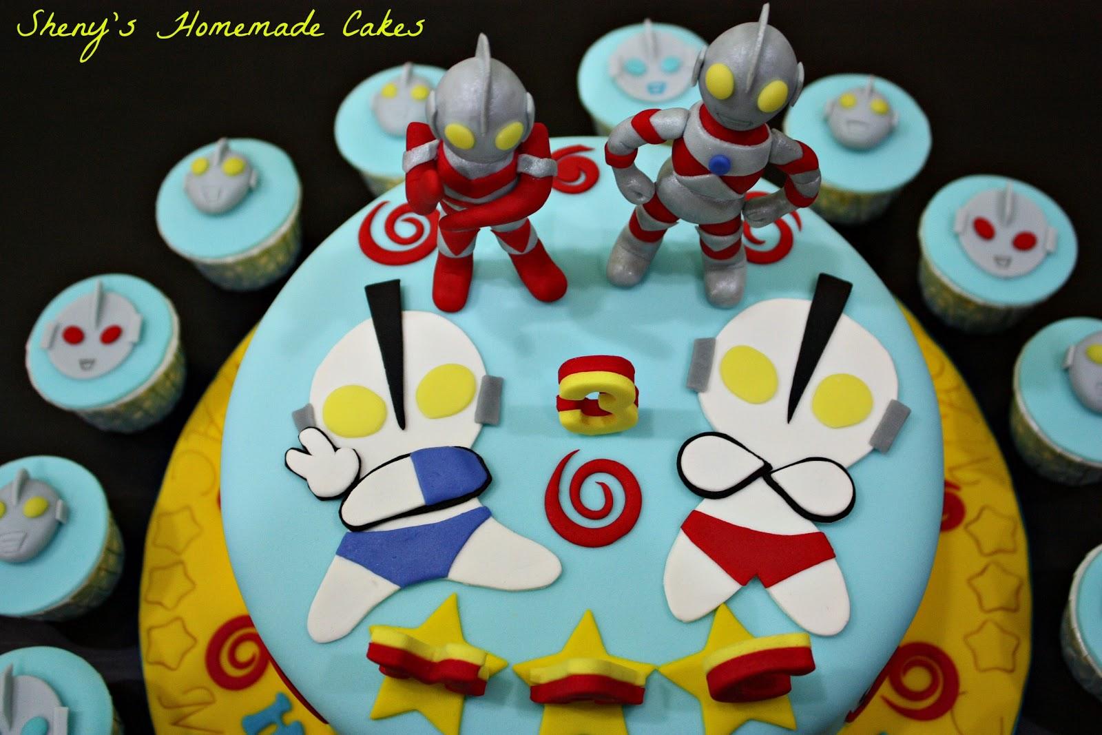 Sheny s Homemade Treats: Ultraman Themed Cake and Cupcakes