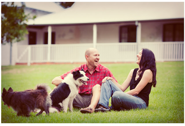 Couple with dogs Portrait