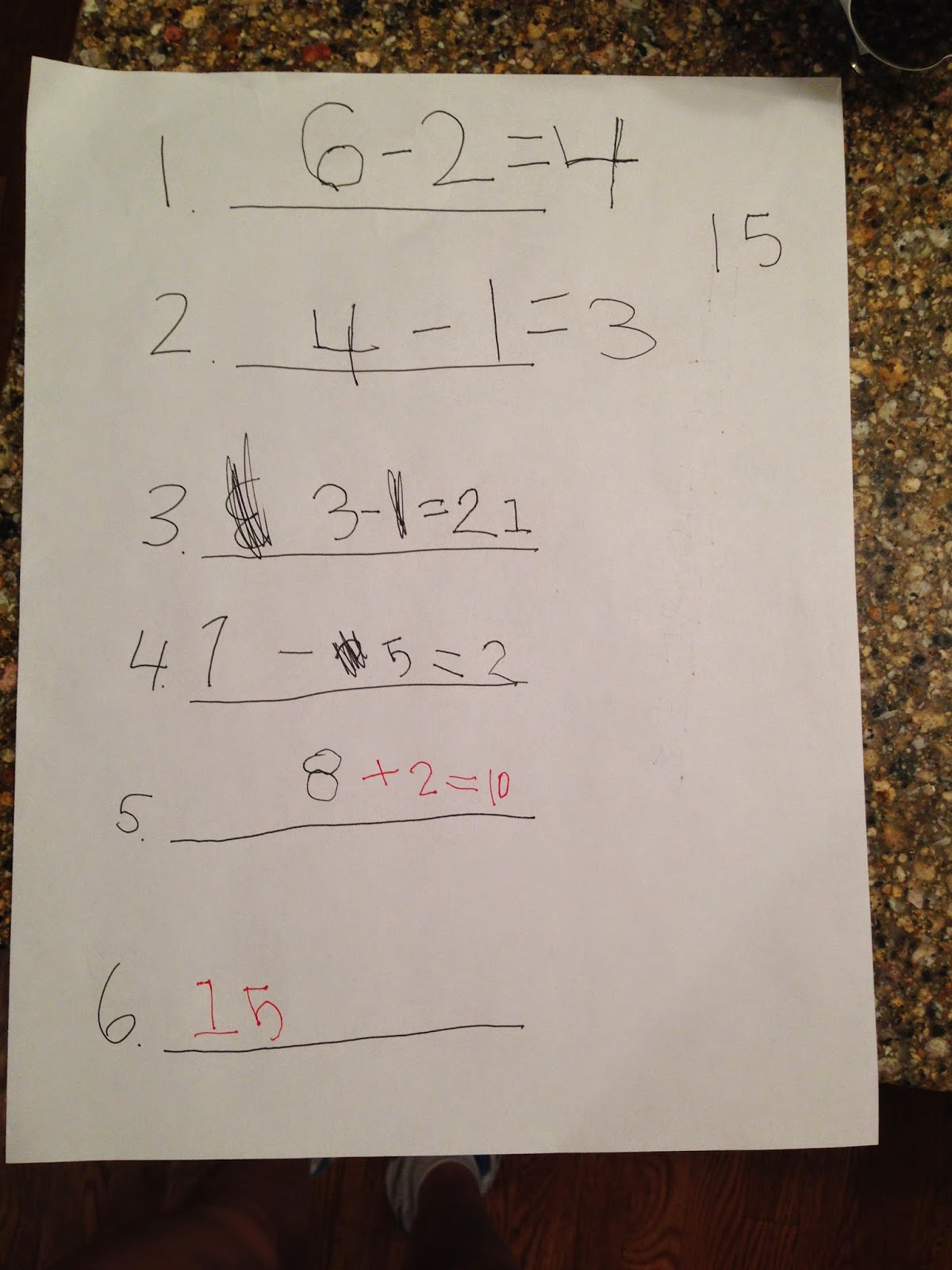 homework for 5 year olds