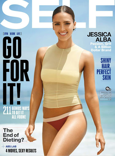Jessica Alba sexy body in SELF Magazine October 2015