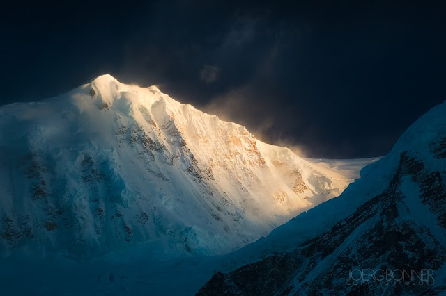 Himalayan peak South Kabru in morning light.