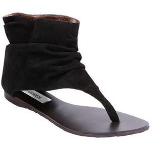 img thing - Black flat sandals