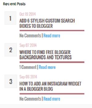 Tips Blog Widget Artikal Terbaru Sempoi