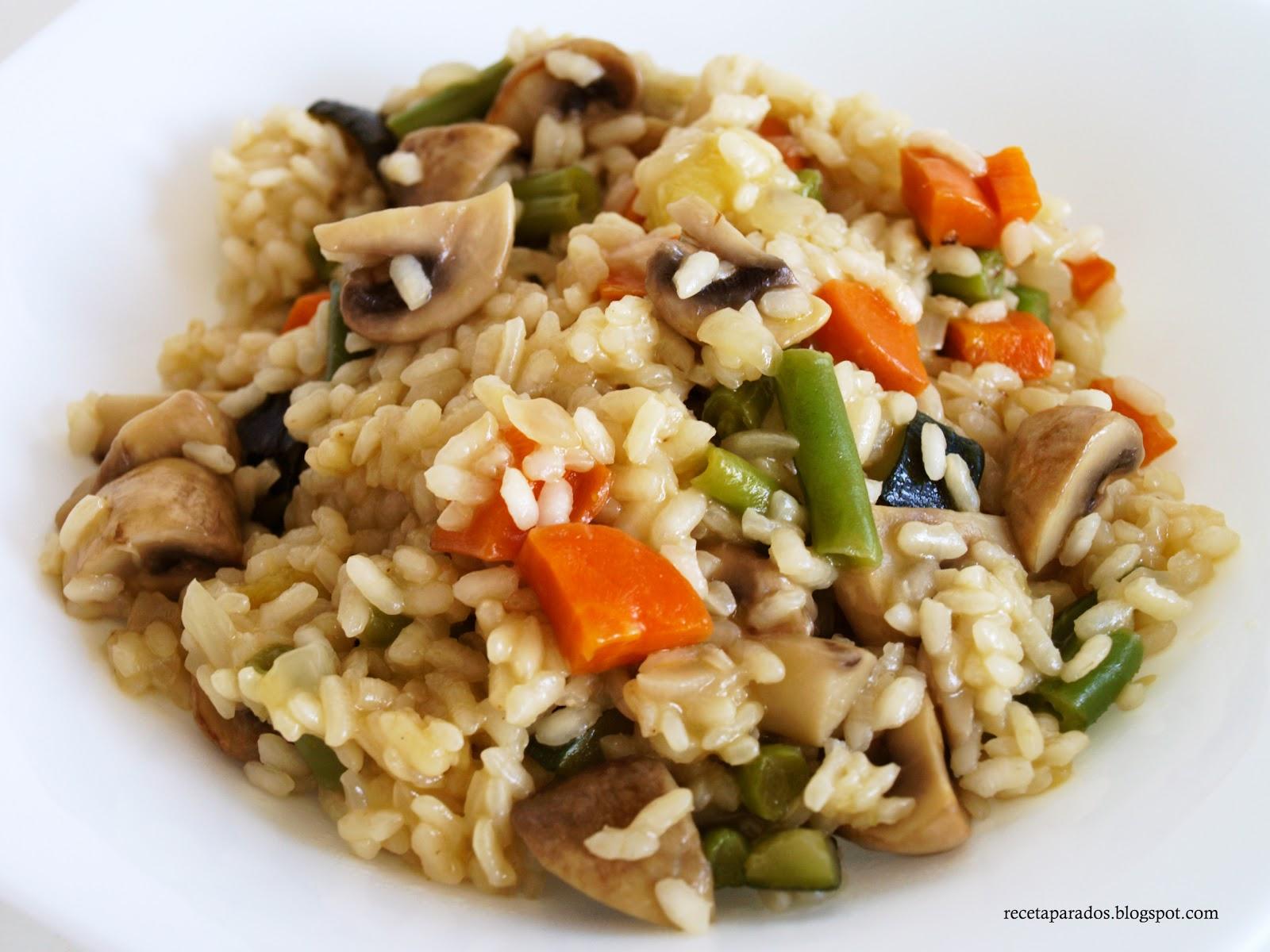 Receta para dos arroz con verduras - Arroz con pescado y verduras ...