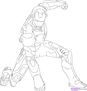 Desenhos do Homem de Ferro para pintar
