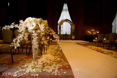 Fairmont wedding, Seattle's best wedding flowers, white orchids