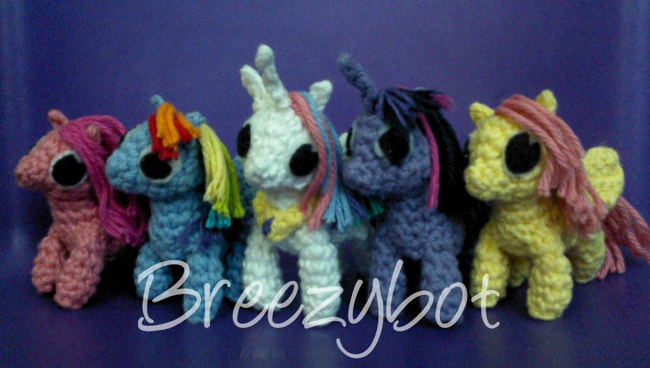 Amigurumi Pattern My Little Pony : Breezybot: FREE PATTERN My Little Pony Inspired Amigurumi