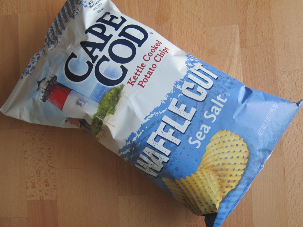 Cape Cod Sea Salt Waffle Cut Chips are kettle-cooked chips that sport ...