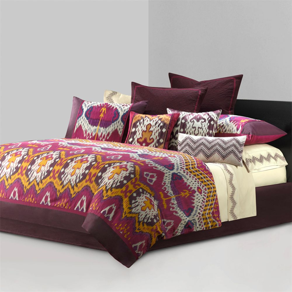 bedding lush wheatbrown homes better full set ikat and decor comforter red gardens piece hester sets
