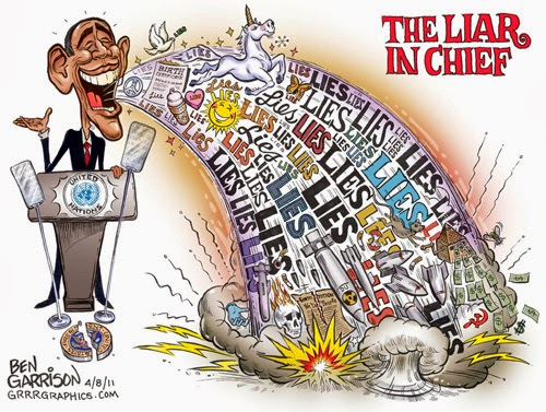 Obama Liar in Chief Cartoon