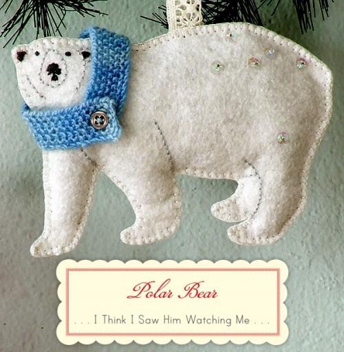 Мишка маИгрушка на рождественскую елку своими руками