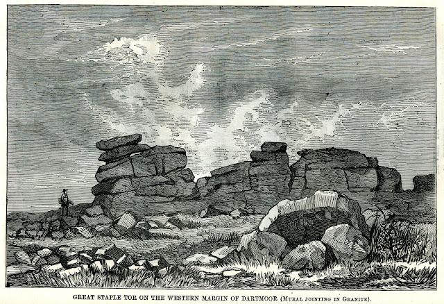 Great Staple Tor on the western Margin of Dartmoor (mural jointing in granite).