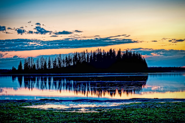Edmonton, Alberta, Canada, Elk, Island National, Park, Lake, Sunset, Astotin, David, Waddington