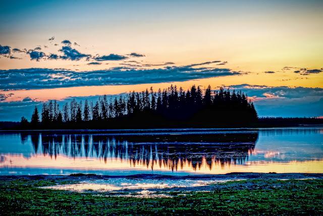 Edmonton, Alberta, Canada, Elk, Island National, Park, Lake, Sunset, Astotin, David, Waddington