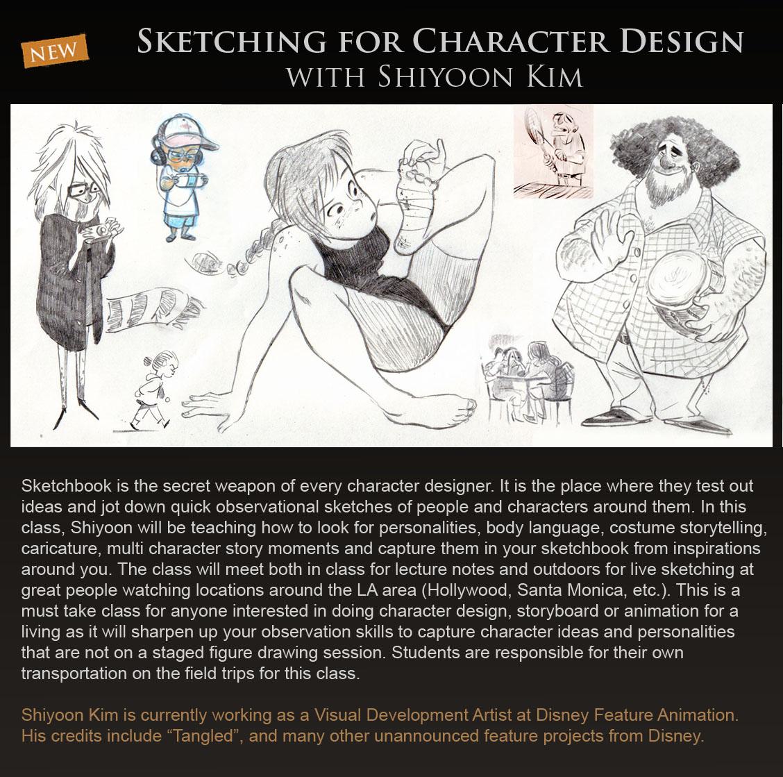 Fundamentals Of Character Design Class With David Colman : Concept design academy april