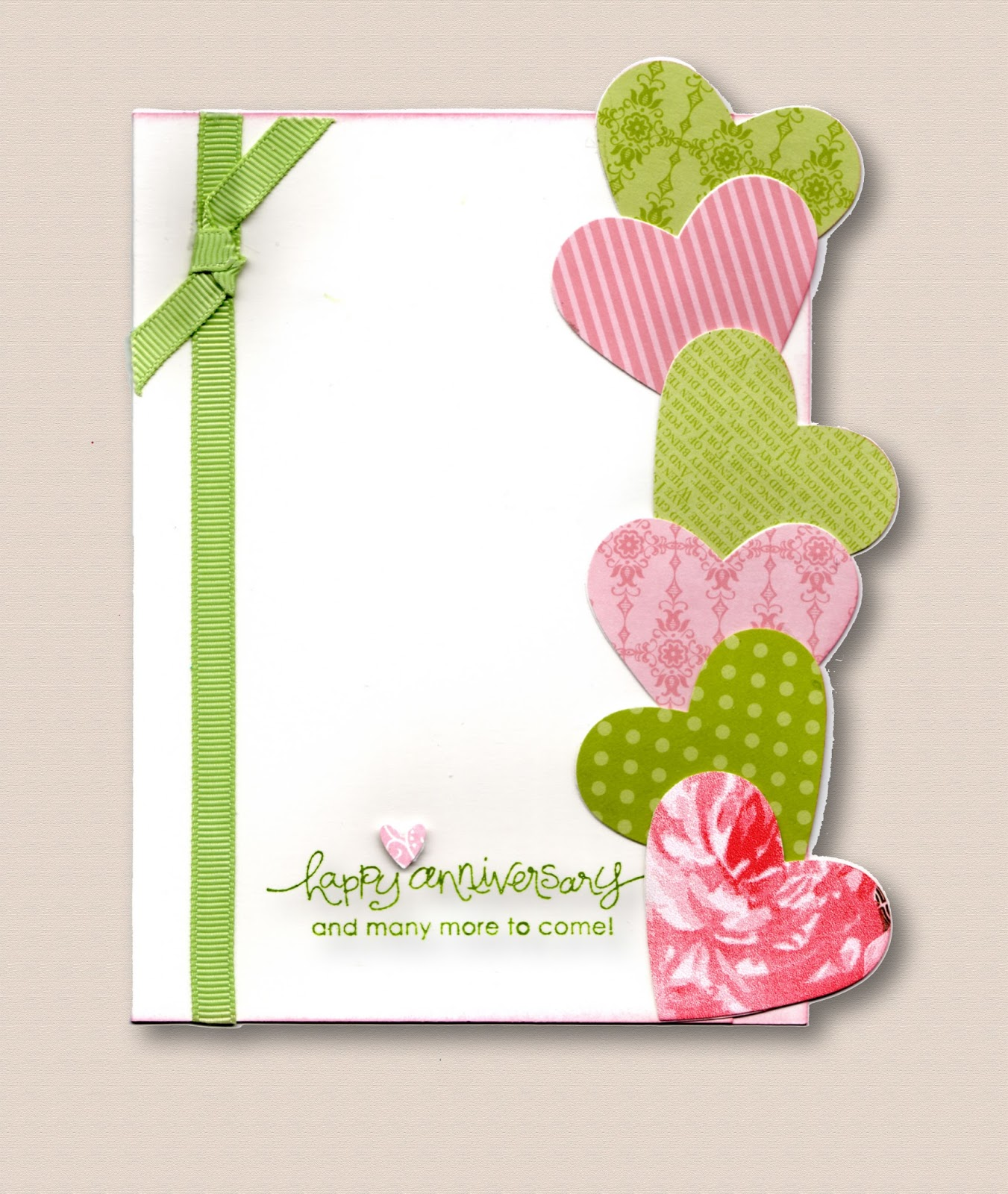 Paper Punching Stamping And Card Creating Anniversary Wishes