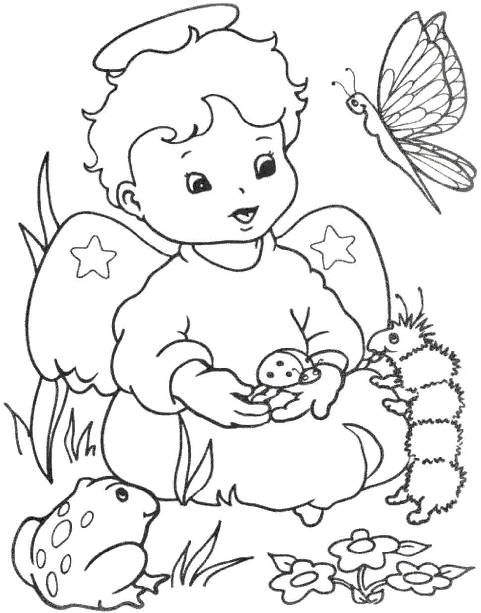 Desenhos infantis para colorir de animais, gatos
