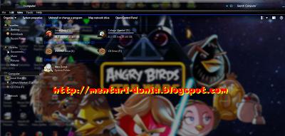 Download Tema Angry Birds Skin pack Transparan windows 7