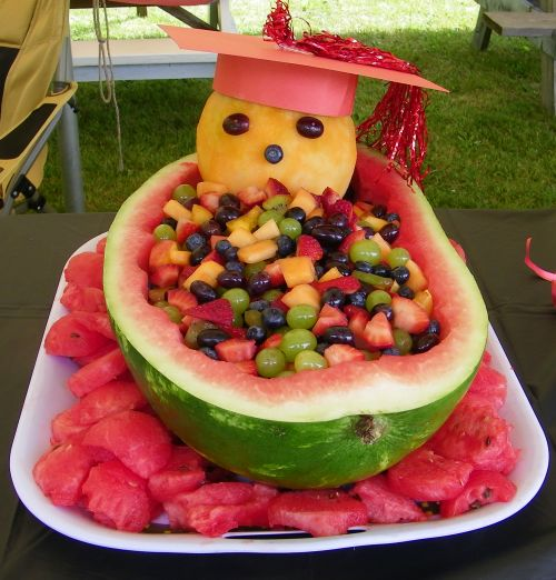 Old fashioned tips summer fruit a watermelon basket