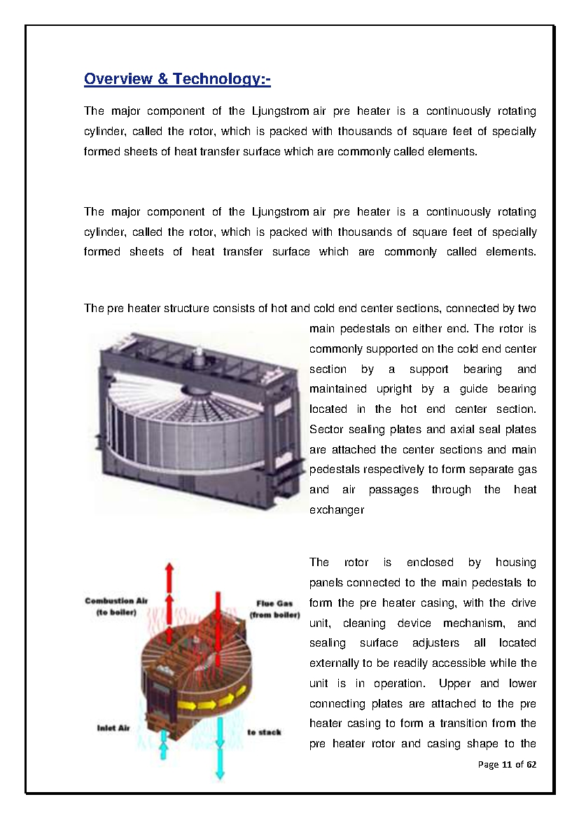 ABC OF THERMAL POWER PLANT: AIR PRE HEATER FOR BOILER IN THERMAL ...