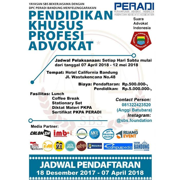 Pendidikan Khusus Profesi Advokat
