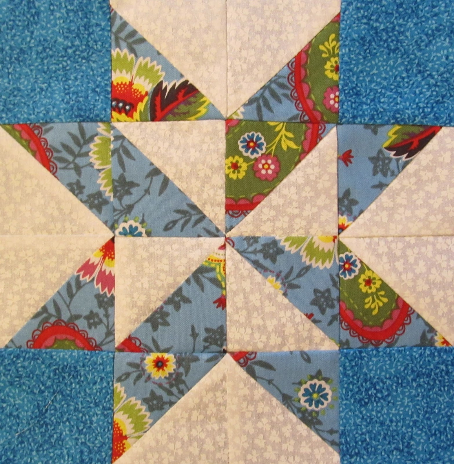 Quilt Patterns Block Of The Month : The Quilt Ladies Book Collection: Star Quilt Block of the Month Block Sixteen