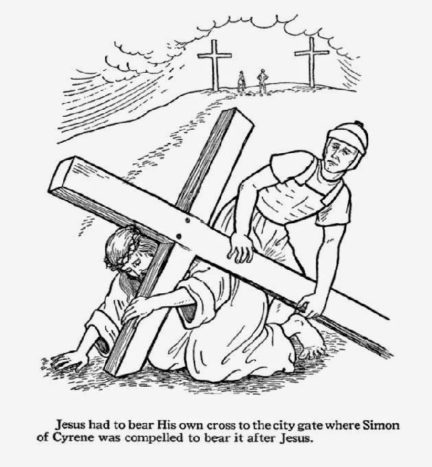 Lenten Coloring Page Of Cross Coloring Pages