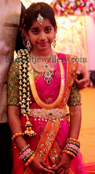 Shriya Half Saree Function Jewellery Designs