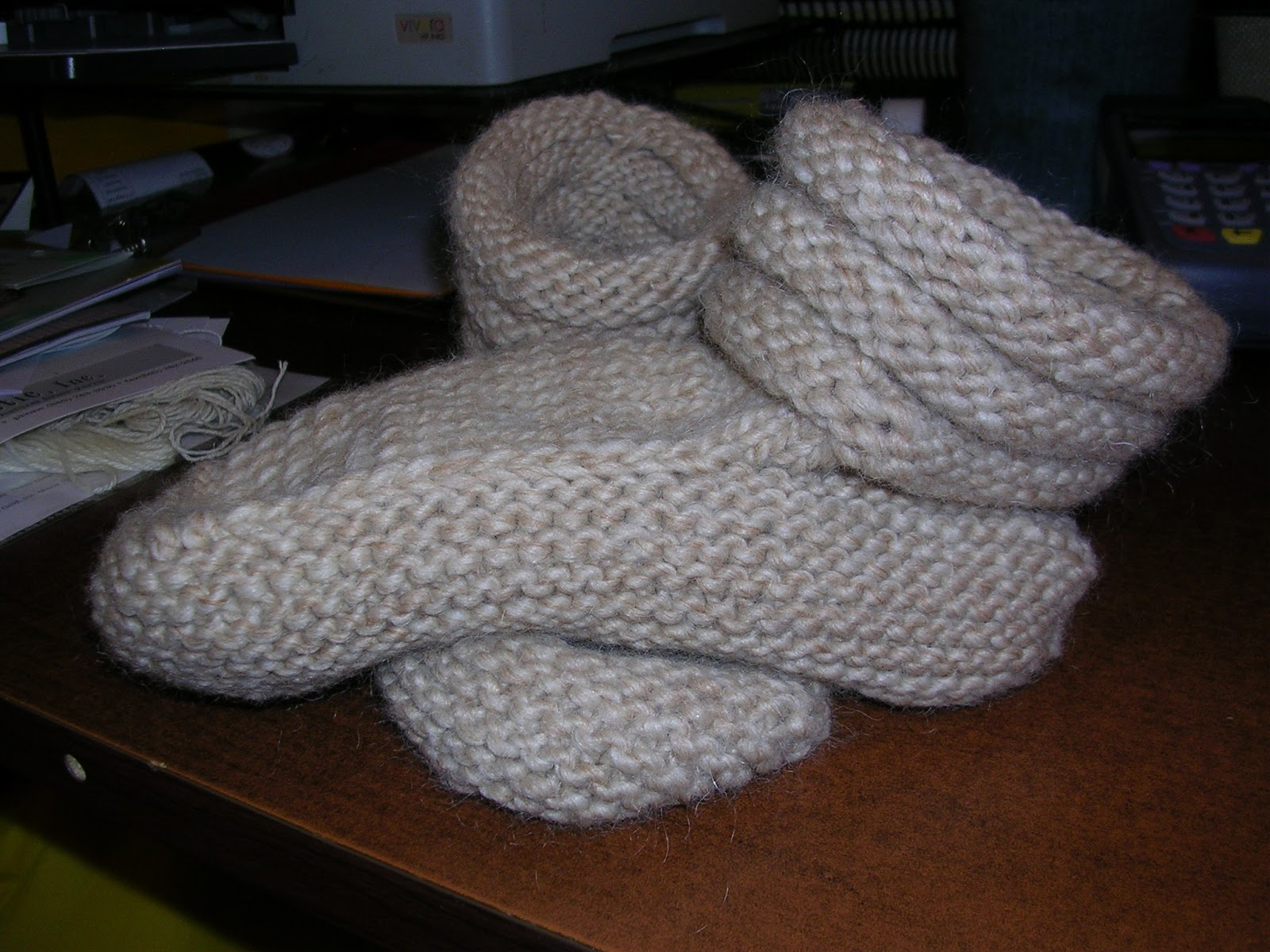 Mukluk Knitting Pattern : Needle Rock Fiberarts: Mukluk Slippers