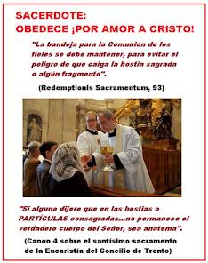 SACERDOTE: OBEDECE ¡POR AMOR A CRISTO!