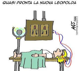 Leopolda, Renzi, vignetta satira