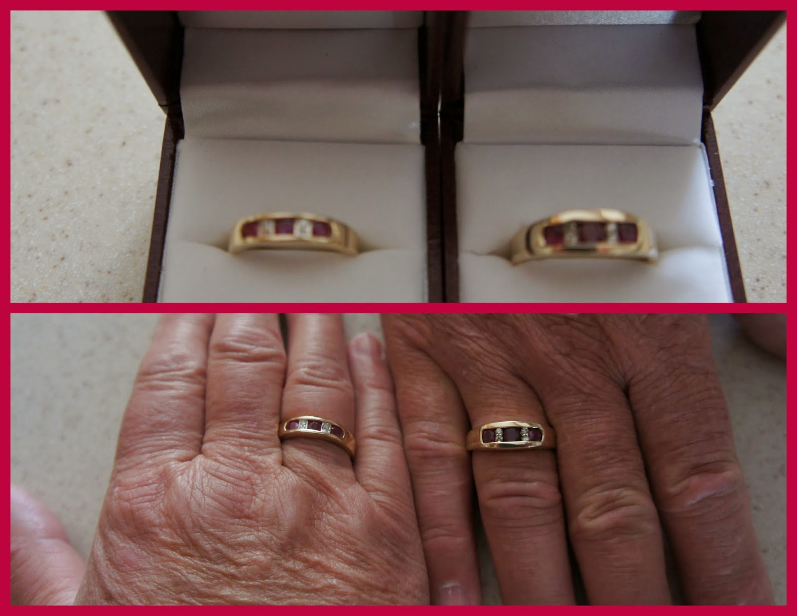 Randy and Susan Landon 40th Wedding Anniversary Rings