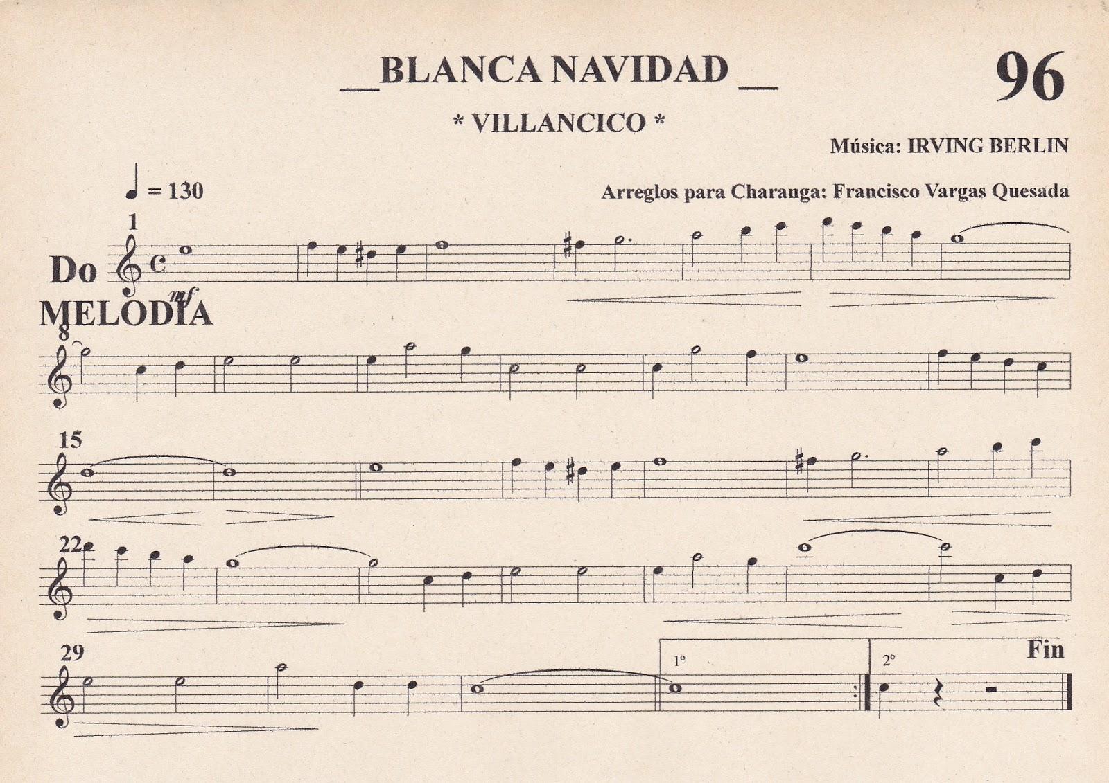 Paco vargas saxofonista blanca navidad - Blanca navidad partitura ...