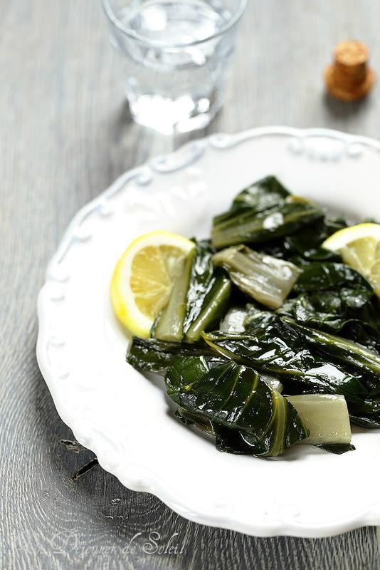 Blettes ou bettes à l'italienne (salade tiède au citron)