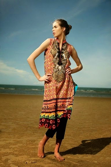 Firdous Embroidered Eid Shirts for Girls
