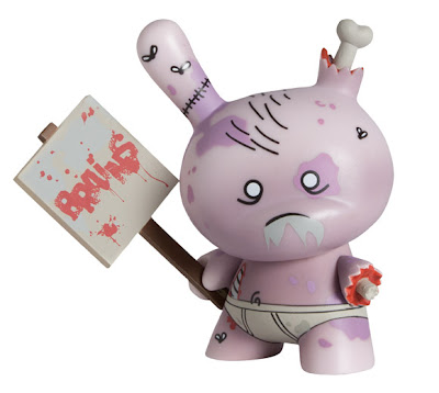 Kidrobot Dunny Series 2011 - International Edition Zombie Dunny Colorway by Huck Gee