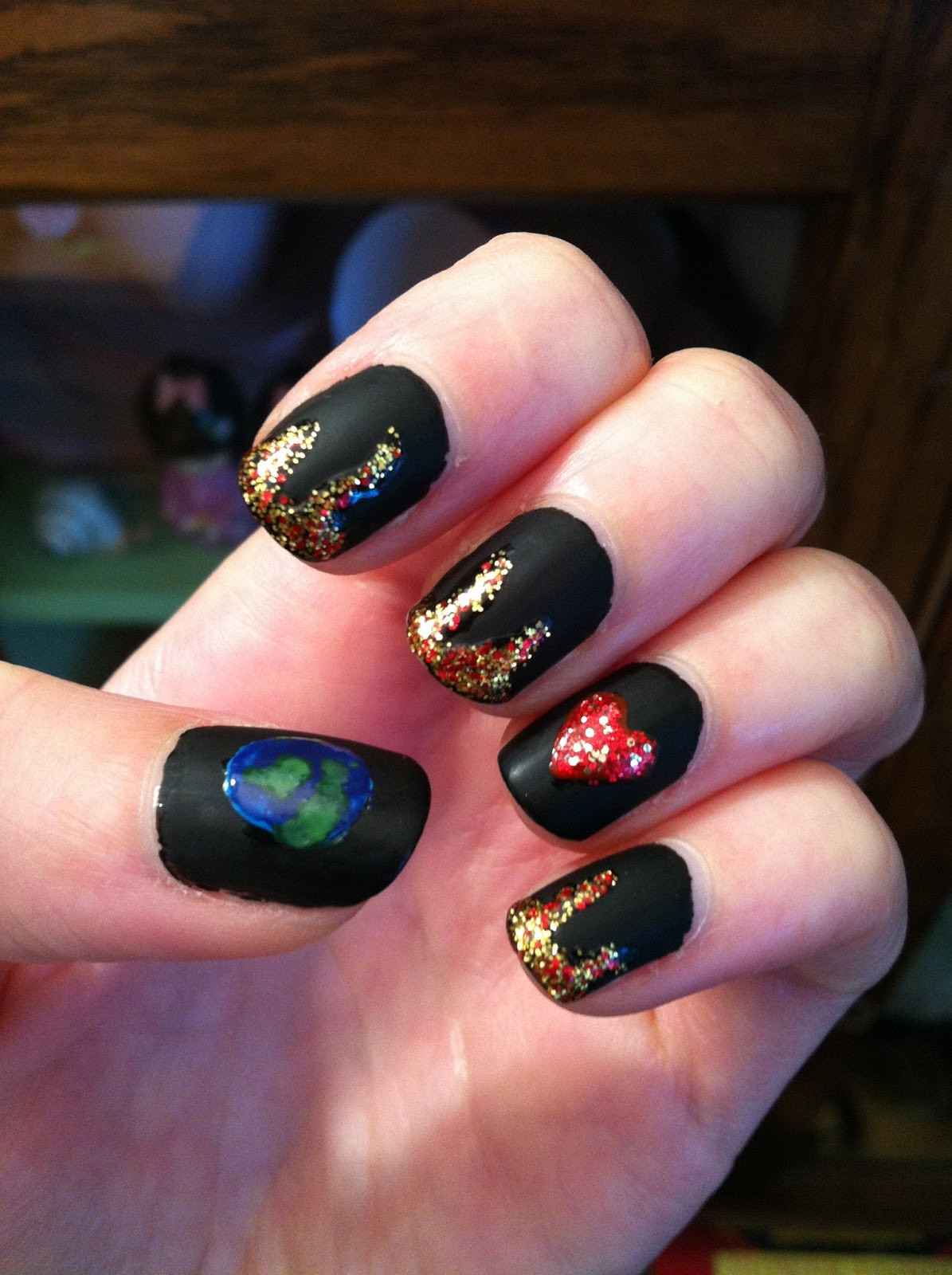 I Took Inspiration For My Nail Design From The First Two Lines Of Song Here Are Pictures