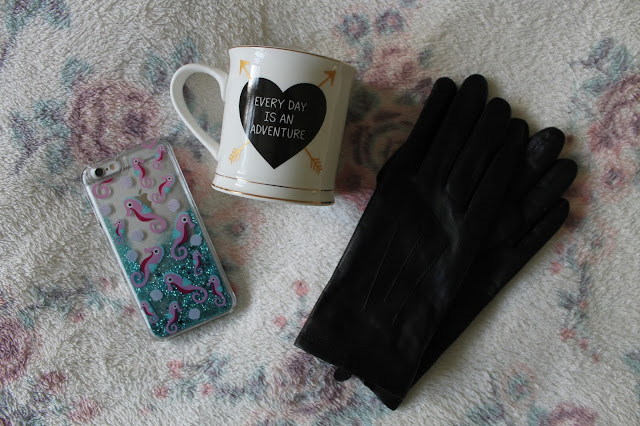 What I Got For Christmas 2015: Bits and Bobs Edition Skinny Dip iPhone 6 Phone Case Sass & Belle Every Day Is An Adventure Mug Marks and Spencer Black Leather Gloves