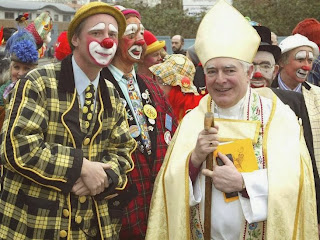 Bishop and clowns