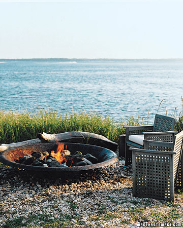 outdoor fireplace for summertime