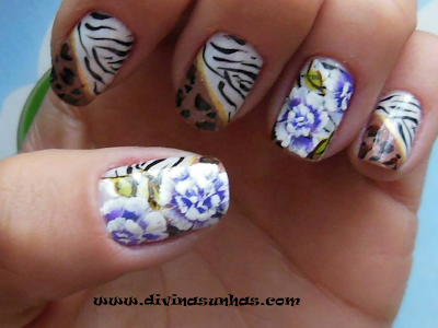 Unhas decoradas e simples de fazer - Como Fazer as unhas
