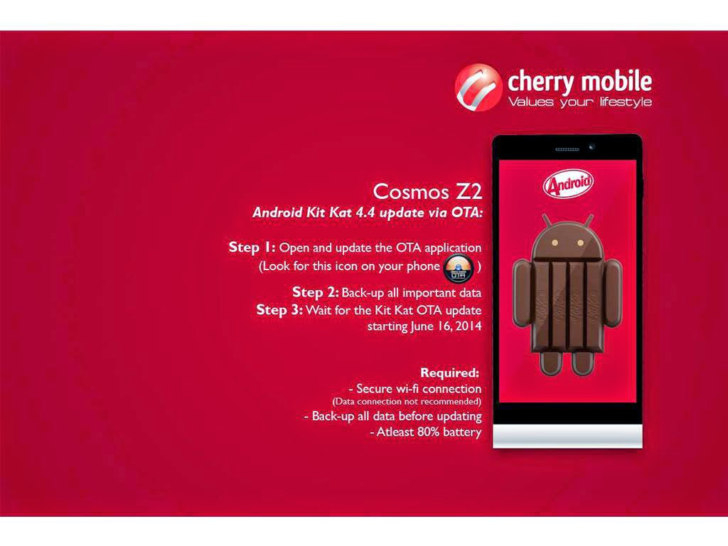Cherry Mobile Cosmos Z2 Kitkat Update Now Available!