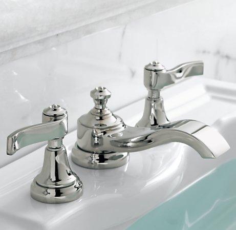 Prairie home therapy week 6 bathroom week the hybrid plan for Restoration hardware bathroom faucets