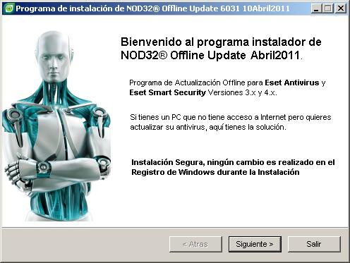 NOD32® Offline Update Abril 2011