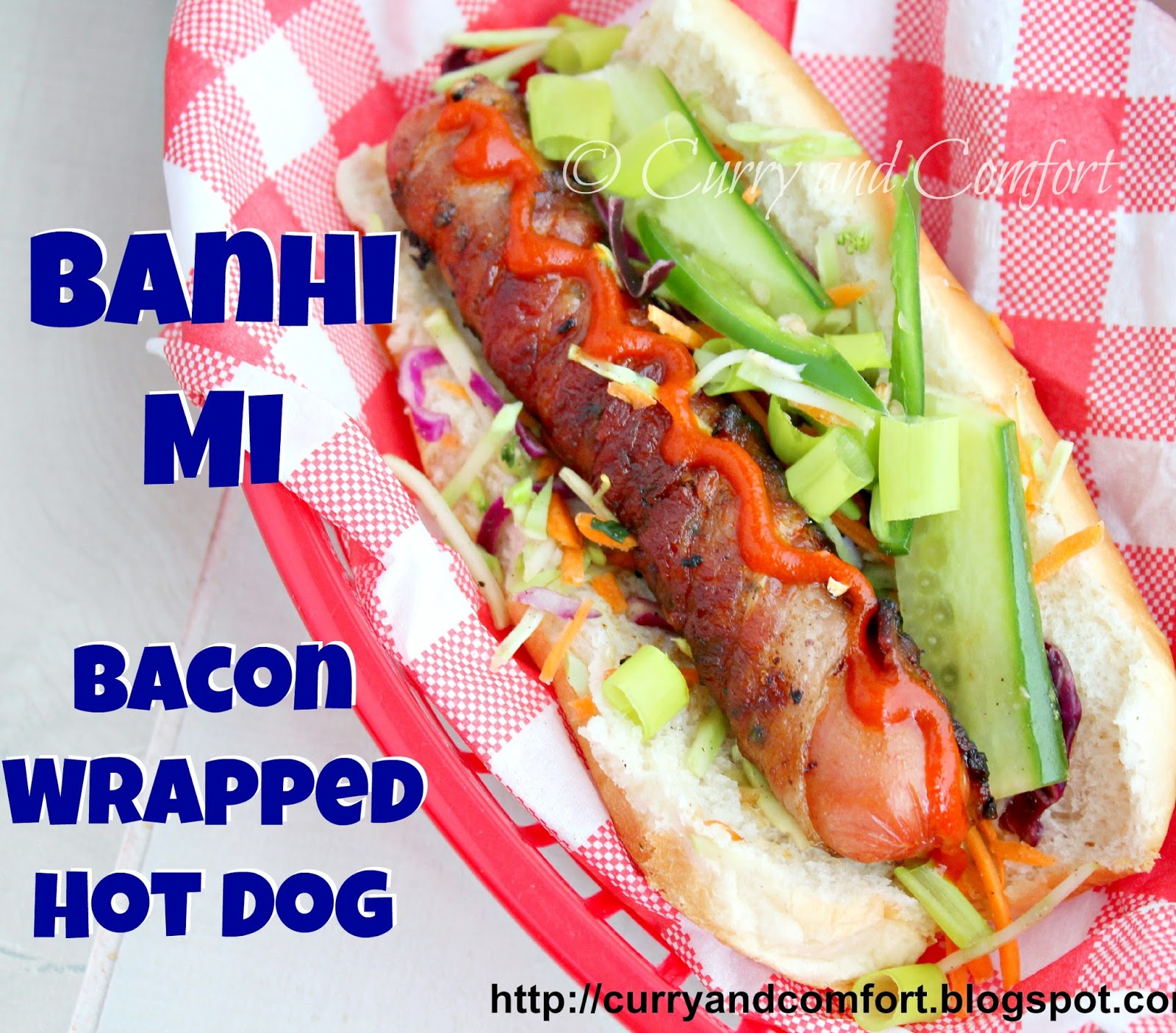 ... hot dog buns with broccoli banh mi slaw and garnishes. Serve hot