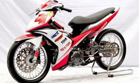 modifikasi motor jupiter mx full body custom