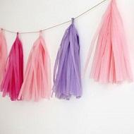 DIY Guirnaldas borlas de papel
