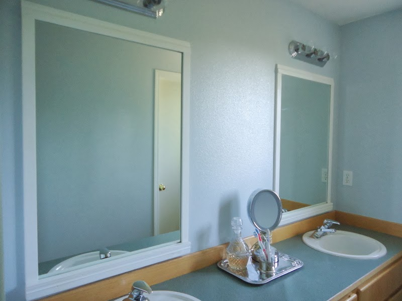 Pondered Primed Perfected: How to frame bathroom mirrors with scrap trim