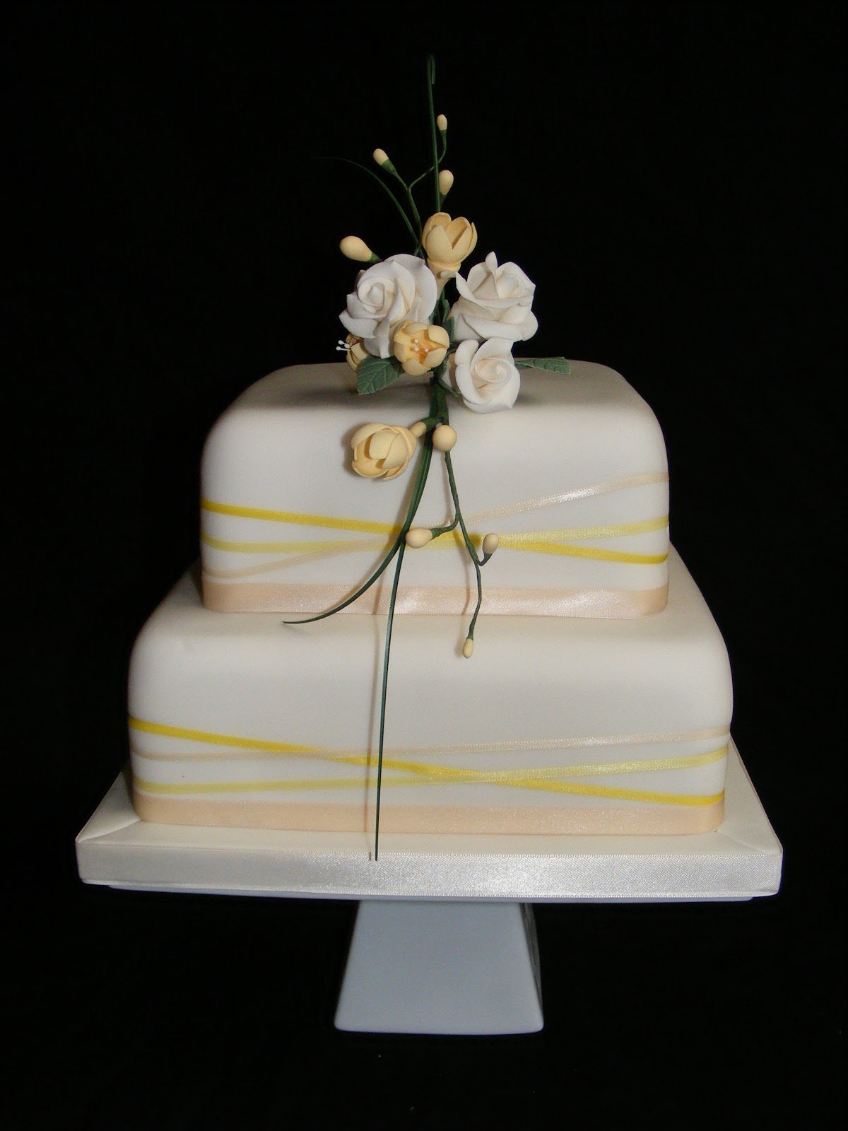 Cakes By Karen Two Tier Wedding Cake